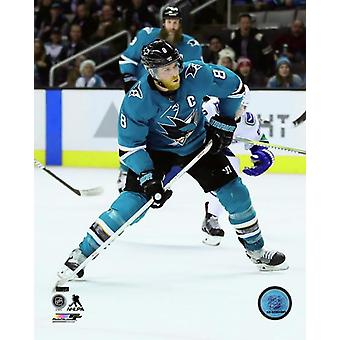 Joe Pavelski 2017-18 Action Photo Print