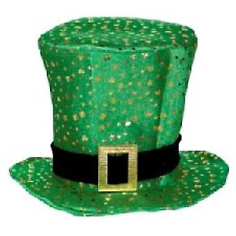 Irish Topper Hat with Buckle and Shamrock