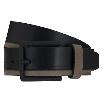 LLOYD Men's belt belts men's belts leather belt sneaker black 6889