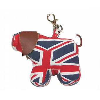 Union Jack Pig Bag or Key Charm by Monica Richards