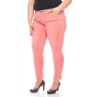 sheego women's stretch pants short size plus size pink