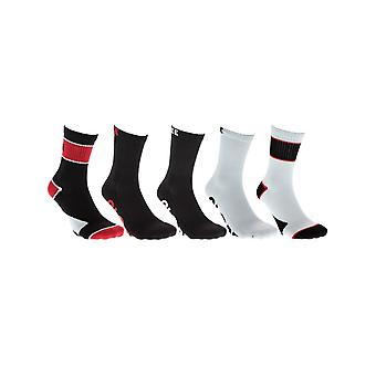 Globe Red Destroyer Crew Pack of 5 Socks