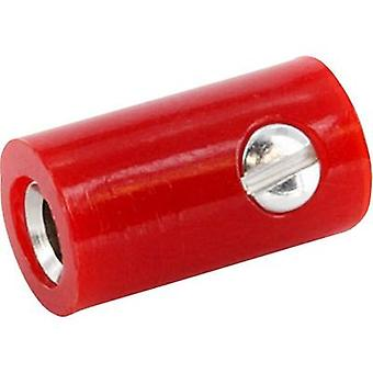econ connect HOKSRT Jack plug Connector, straight Pin diameter: 2.6 mm Signal red 1 pc(s)