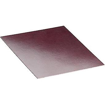 Montageplaat (L x W x H) 100 x 150 x 1 mm fenolische papier Brown Proma 1 PC('s)