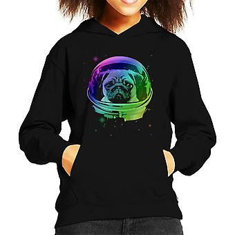 Space Pug Kid's Hooded Sweatshirt