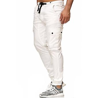 Tazzio fashion mens chinos white