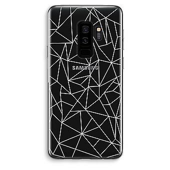 Samsung Galaxy S9 Plus Transparent Case (Soft) - Geometric lines white