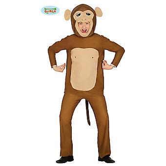 Monkey costume adult animal costume monkey suit Brown Zoo animal monkey