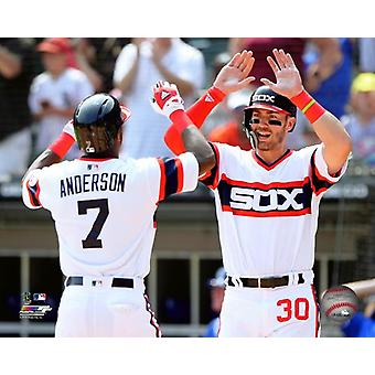 Tim Anderson & Nicky Delmonico 2018 Action Photo Print