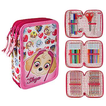 Paw Patrol, Triple Skolset, 43-piece stationery sets, pencil boxes, Pink