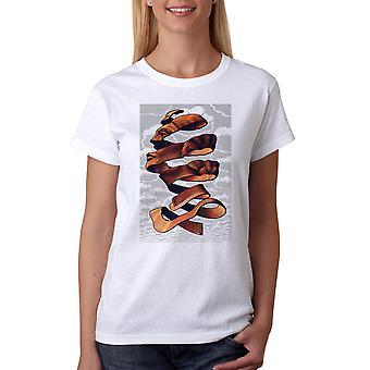 M.C. Escher Face Rind Women's White T-shirt