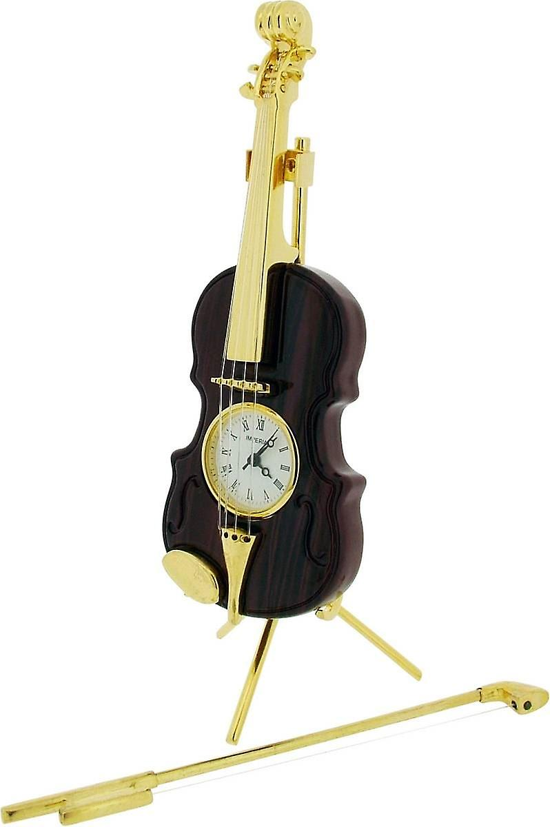 Violin Time brown Gift Miniature ClockGold Products gbvf76mYIy