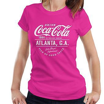 Coca Cola Atlanta GA White Text Women's T-Shirt