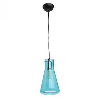 Megapolis zwarte Pendant Lamp 1 licht