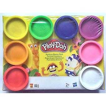 Play-Doh Rainbow Starter Pack Children's Modelling Dough Kids' Craft Set 8 Pots