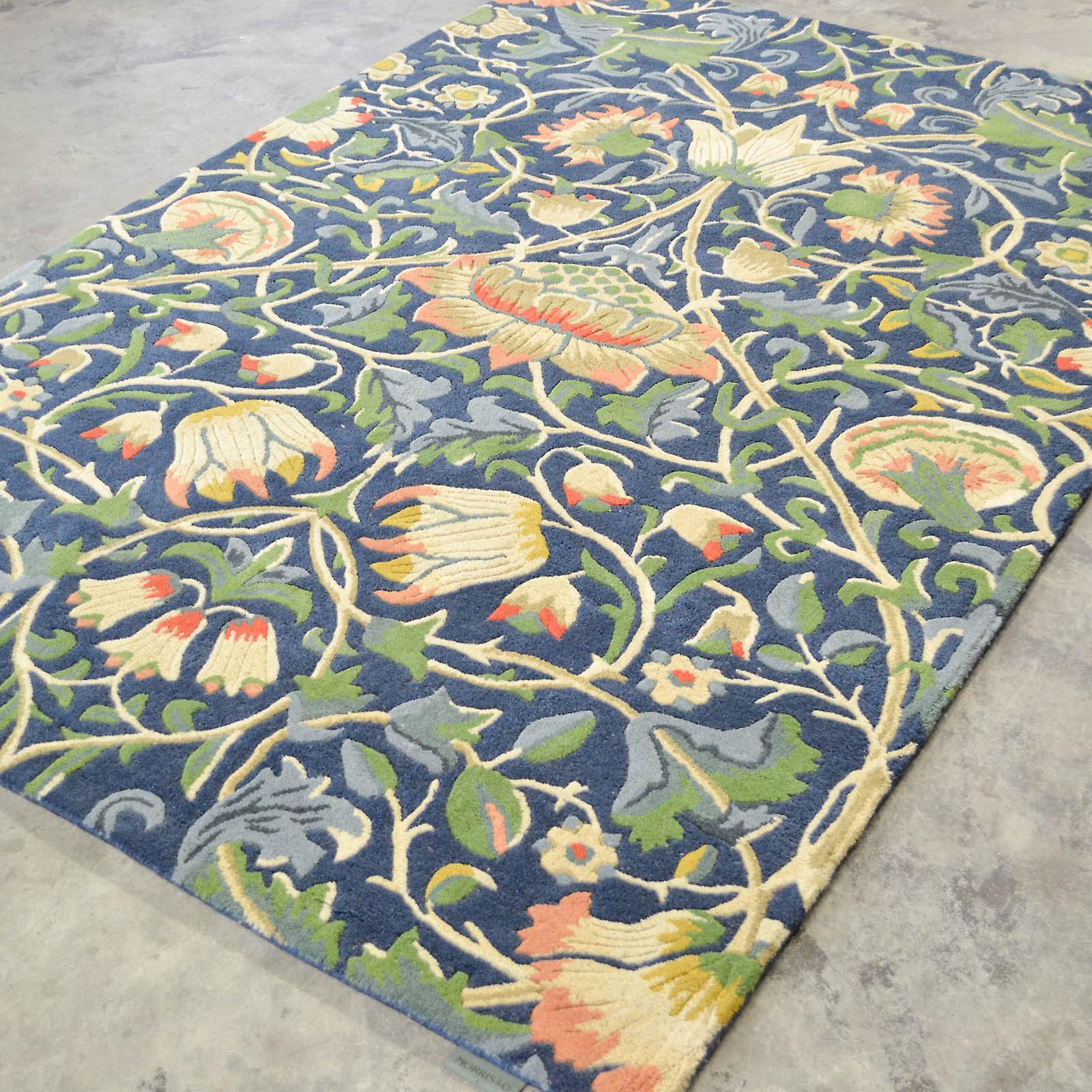 Lodden tapis 27808 Indigo et minérale par William Morris