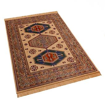 Traditional Afghan Kazak Artificial Faux Silk Effect Rugs 9379/4 160 x 230cm