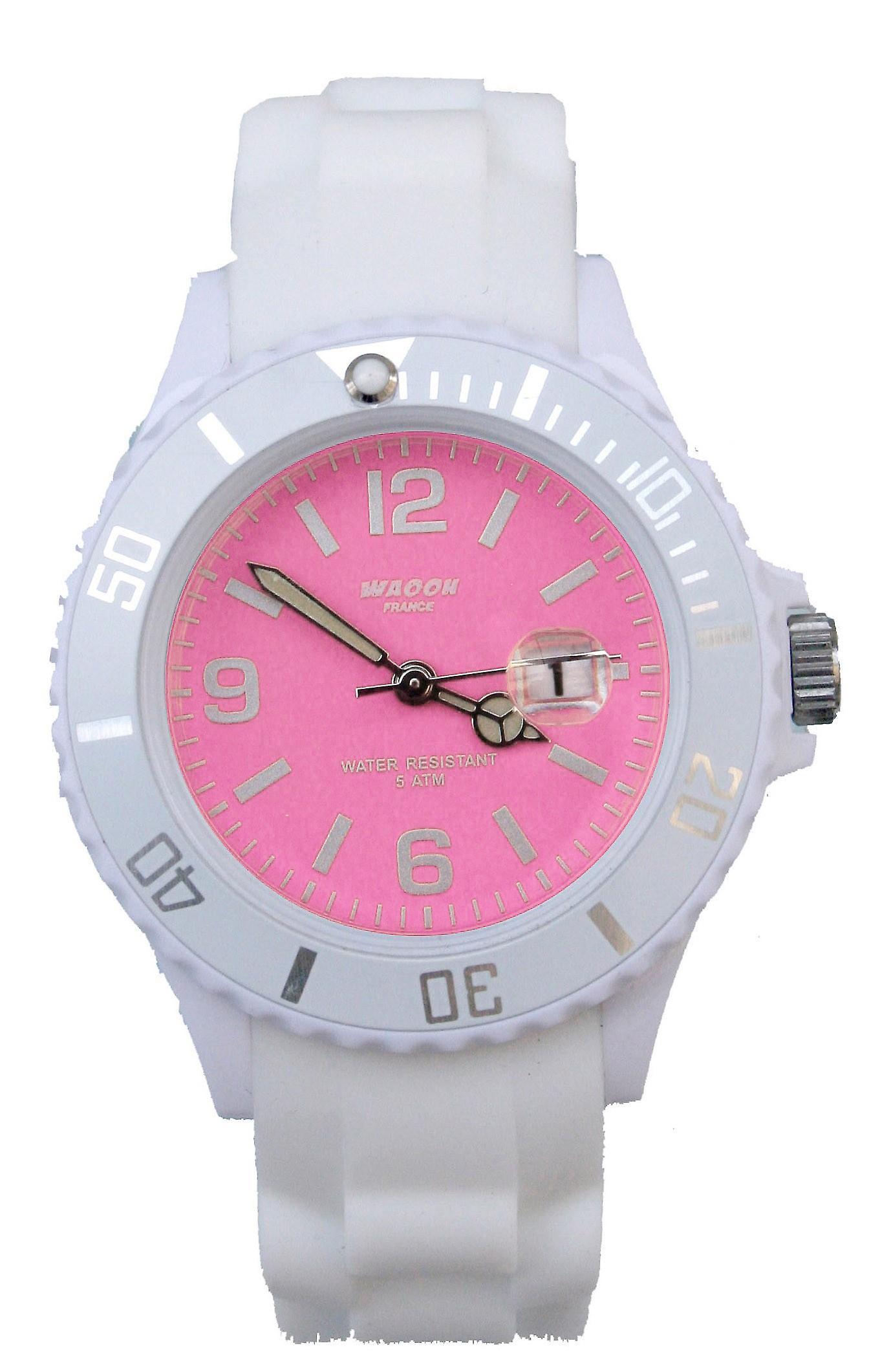 Waooh - Watch MONACO 38 White Dial Color