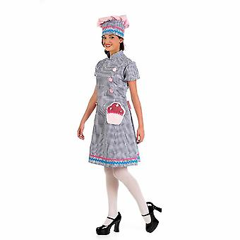 Pastry Chef Baker Lady costume Capcake ladies costume