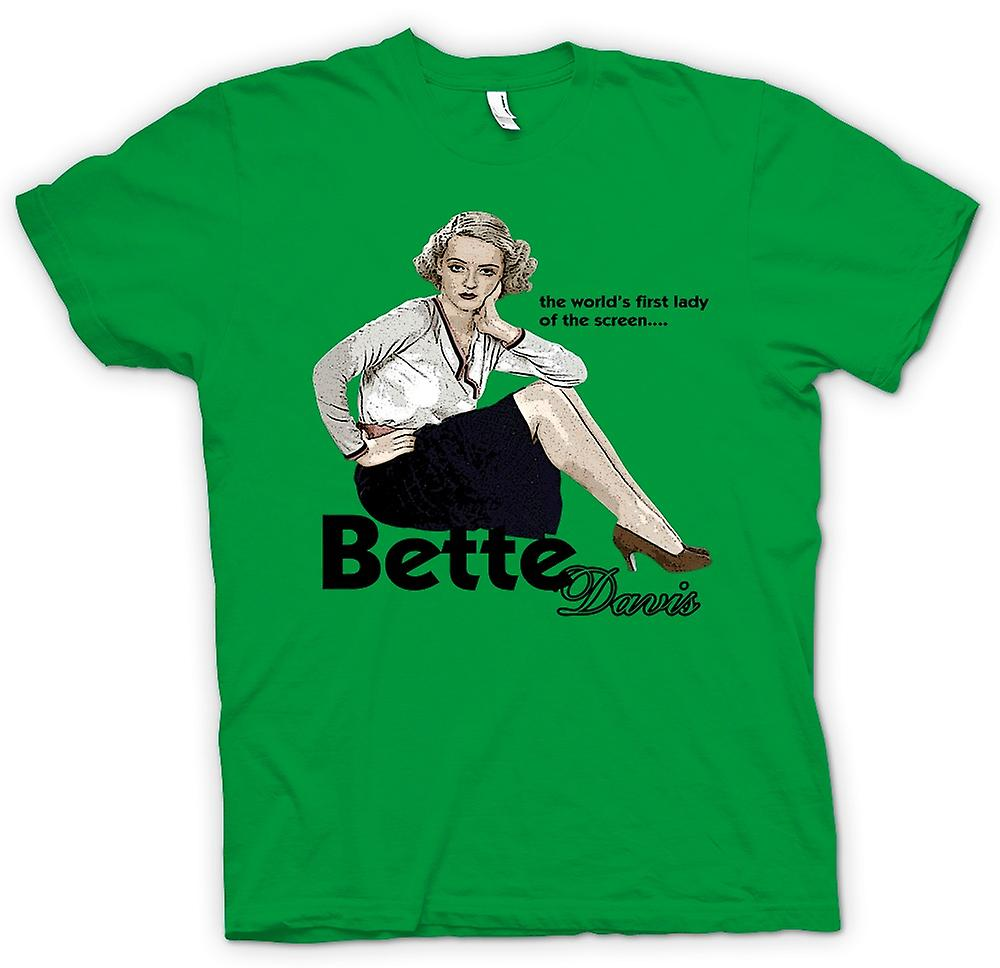Mens t-skjorte - Bette Davis 1ste Lady - klassisk film