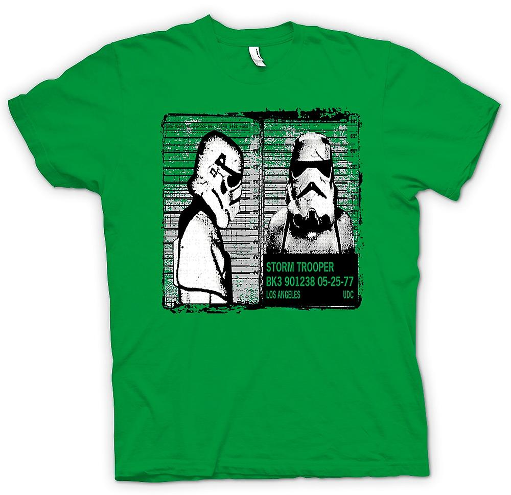 Mens t-shirt - Storm Trooper Mug Shot - Funny