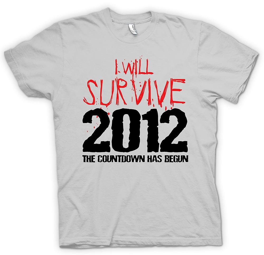 Mens t-shirt - 2012 I Will Survive Apocalisse fine del mondo