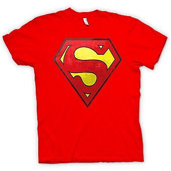 महिला टी शर्ट - सुपरमैन व्यथित लोगो - शांत