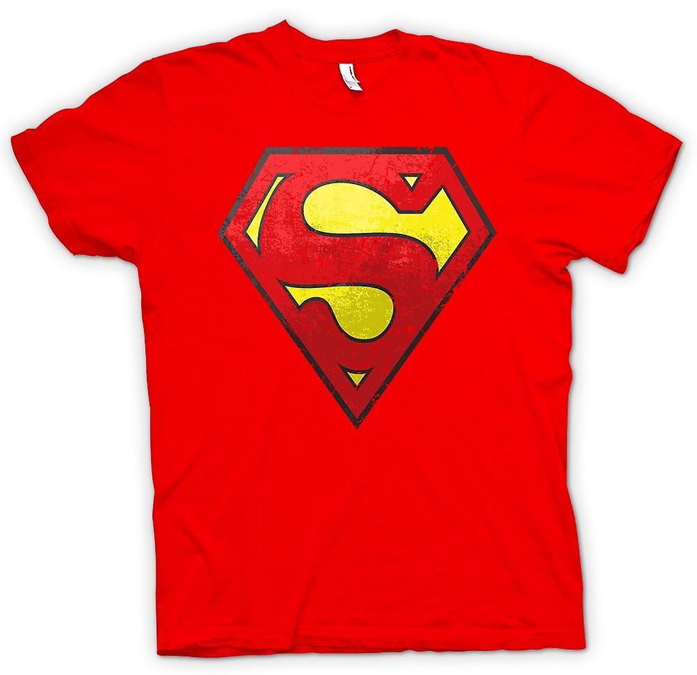 Herren T-Shirt - Superman beunruhigte Logo - Cool