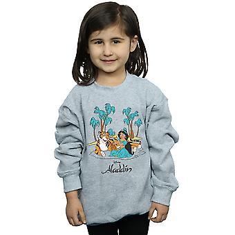 Felpa Disney ragazze Aladdin Jasmine Abu Rajah Beach