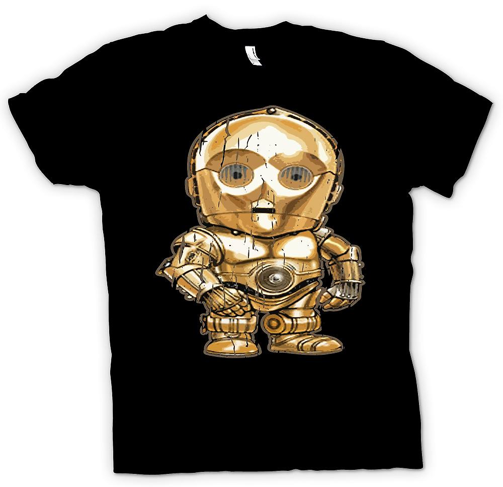 Womens T-shirt - Cute Baby Chibi C3PO - Cool Star Wars Inspired