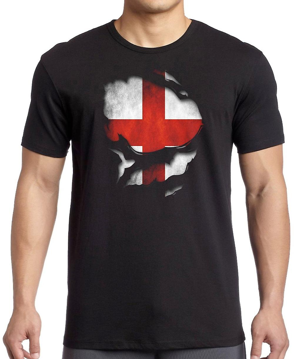 England Ripped Effect Under Shirt Kids T Shirt