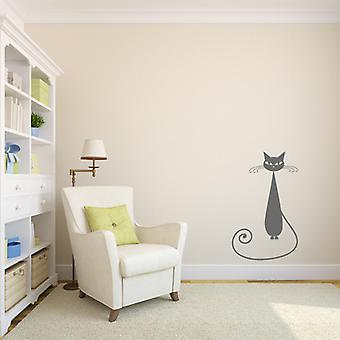 Siamese Tall Cat Wall sticker V4