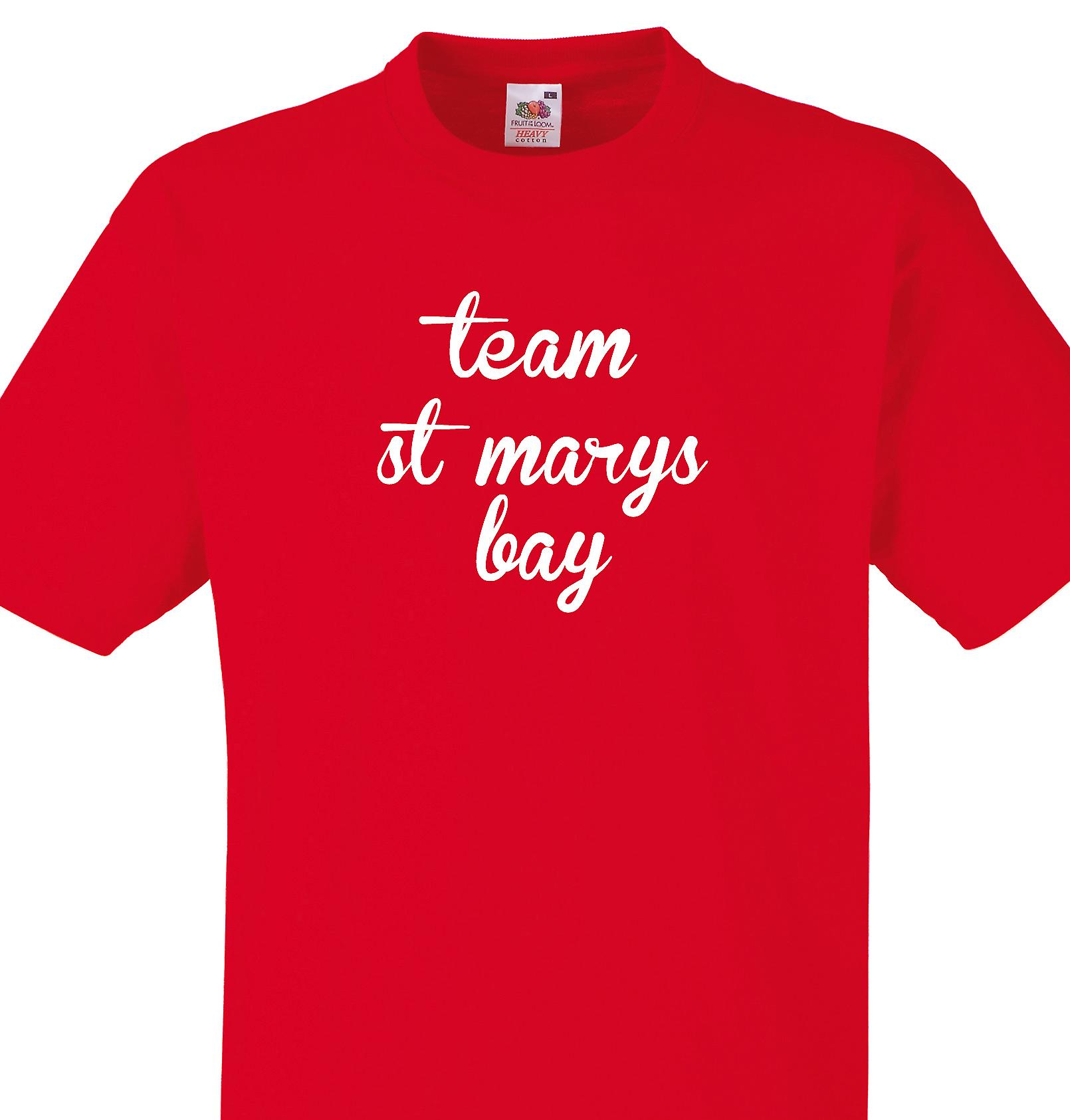 Team St marys bay Red T shirt