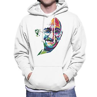 Geometric Celebrity Mahatma Gandhi Men's Hooded Sweatshirt