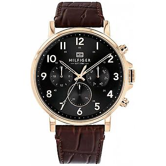 Tommy Hilfiger | Men's Brown Leather Daniel | 1710379 Watch