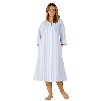 Slenderella HC3225 Women's Woven Striped Robe Dressing Gown