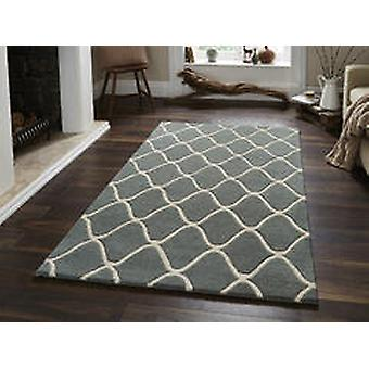 Éléments EL65 tapis bleu Rectangle tapis Plain/presque ordinaire