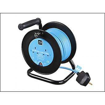 Masterplug Drum Cable Reel 25 Metre 2 Socket 10a Thermal Cut-Out 240 Volt