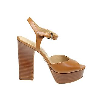 Michael Kors Brown Leather Sandals