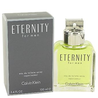 ETERNITY by Calvin Klein Eau De Toilette Spray 3.4 oz / 100 ml (Men)