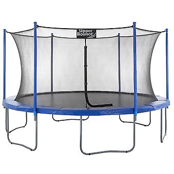 Upper Bounce - 14 FT. Big Trampoline with Enclosure Safety Net, Poles, Jumping Mat, Spring Cover Pad for Garden & Outdoor - Easy Assemble