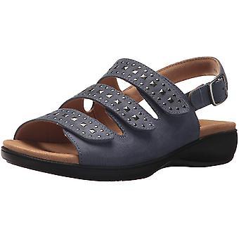 Trotters Womens Tonya Fabric Open Toe Casual Slide Sandals