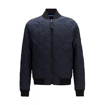Hugo Boss Obloom bommenwerper stijl zip up Navy Jacket