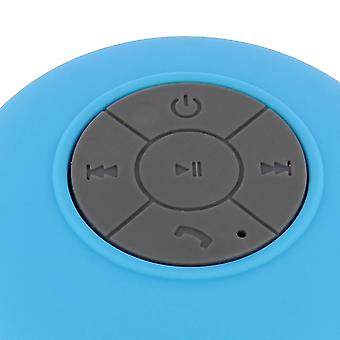 Vanntett Bluetooth høyttaler (IP X4) suge kopp blå