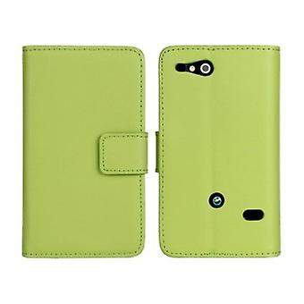 Wallet Case Sony Xperia Go, art leather, green