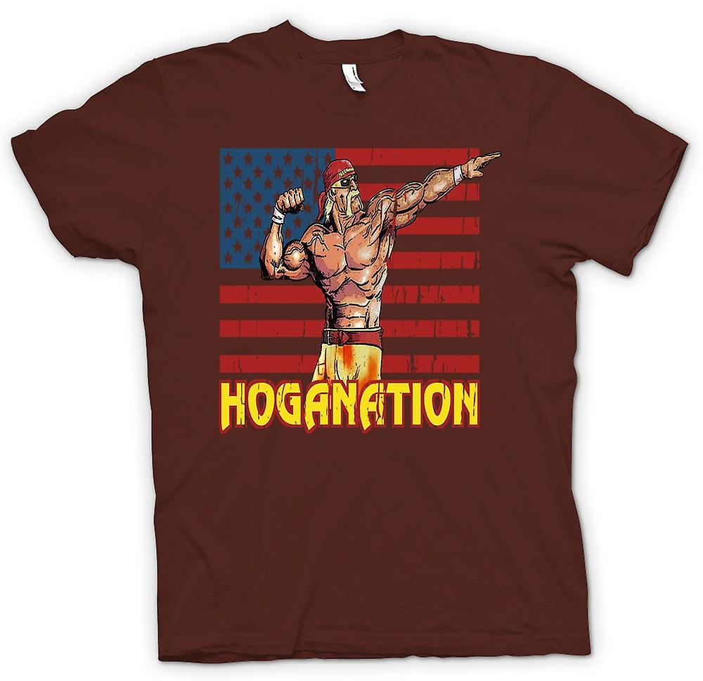 Heren T-shirt - Hoganation - Hulk Hogan U.S. vlag