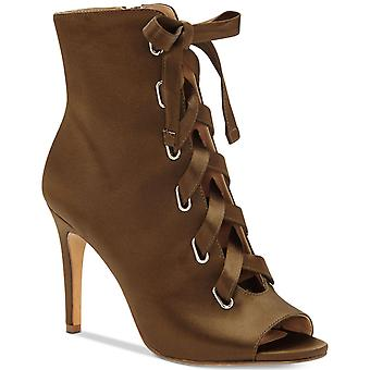 INC International Concepts Womens Romeily Fabric Peep Toe Ankle Fashion Boots