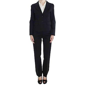 Bencivenga Black Cotton Stretch Suit -- SIG3652293