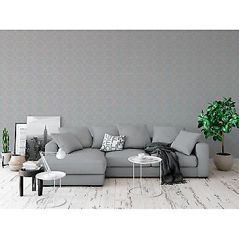 Muriva Casca Metallic Shimmer Geometric Smooth 3D Effect Modern Wallpaper 147506