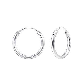 Hoop - 925 Sterling Silver Ear Hoops - W553X